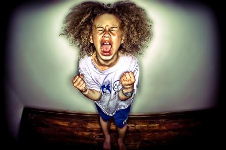 child having tantrum