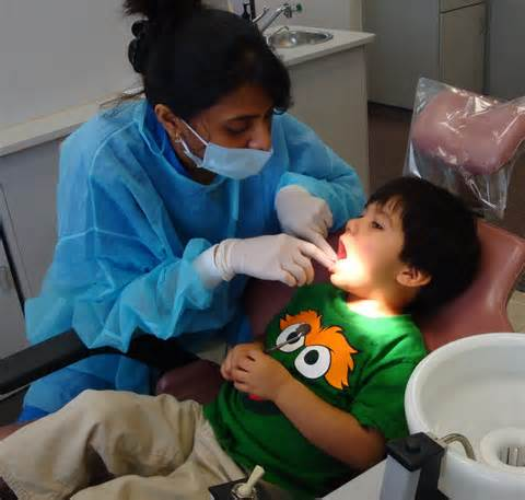 Child and Dentist