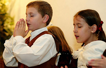 children at worship