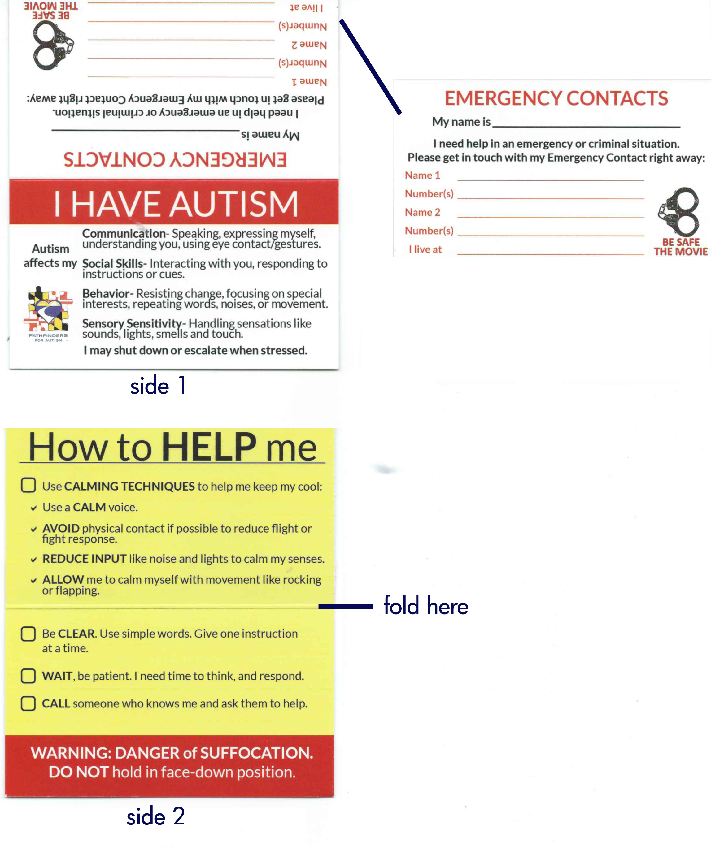 Autism Disclosure Card